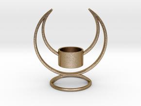 Candle Holder - 3D printed Candleholder in Polished Gold Steel
