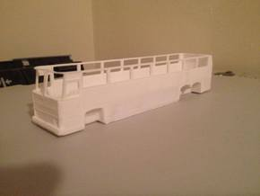 1:87 HO Scale MCI MC9 Motor Coach Bus in White Natural Versatile Plastic