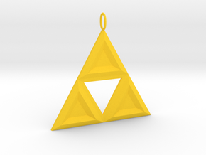 Triforce in Yellow Processed Versatile Plastic
