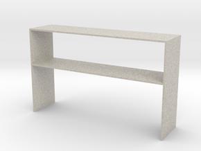 Over Desk Cabinet 1 Close in Natural Sandstone