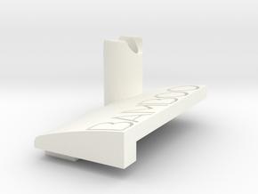 [Small] Bamboo Pen Stylus Holder in White Processed Versatile Plastic