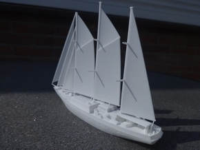 Sailingvessel Eendracht 1/350 in White Natural Versatile Plastic