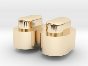 Adjustment Buttons - Metals in 14K Yellow Gold