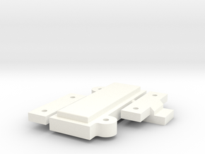 Clamps for Mounting Plates - NO USB in White Processed Versatile Plastic