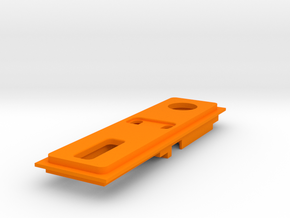 Interior Mount - 2mm - NO USB in Orange Strong & Flexible Polished