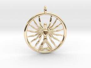 Multiarm Deity Pendant in 14K Yellow Gold