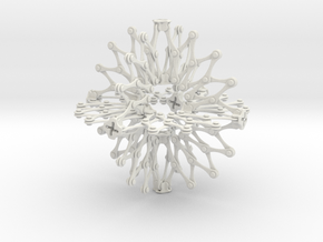 Hoberman Sphere (Large) in White Natural Versatile Plastic