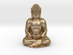 Buddha (1:160) in Polished Gold Steel