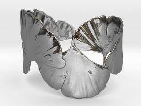 Ginko Bracelet size M,L,XL in Polished Silver: Large
