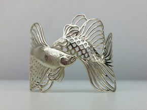 Pisces all sizes in Premium Silver: Extra Small