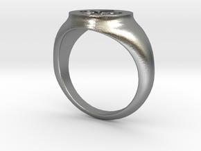 Signet Ring - Fleur De Lis in Natural Silver