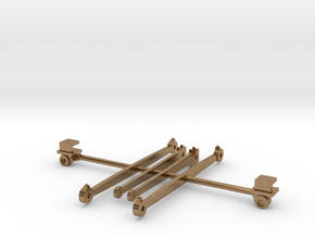 Rods and crossheads for LT&SR 442t locomotive in Natural Brass