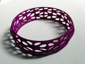 Randomquads Bracelet in Purple Processed Versatile Plastic