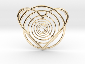 Hypnotic Heart Pendant in 14K Yellow Gold