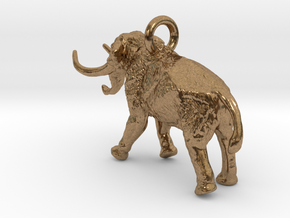 Elephant Charm in Natural Brass