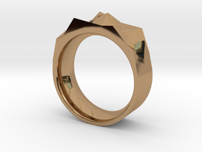 Triangulated Ring - 19mm in Polished Brass