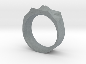 Triangulated Ring - 19mm in Polished Metallic Plastic