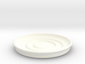 Circular Coaster in White Processed Versatile Plastic