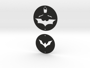 Batman Charms Set 1 in Black Natural Versatile Plastic