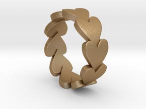 Heart Ring Size 9 in Matte Gold Steel