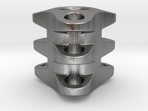 Triple Tritium Bead 1 (2.5x10mm Vials) in Natural Silver