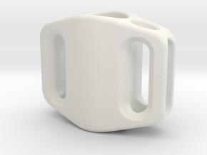 Pedal Bead Ver.2: Tritium (Silver/Brass/Plastic) in White Natural Versatile Plastic