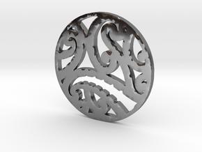 Maori koru tribal pendant design in Premium Silver
