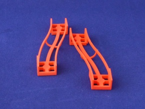 Marble Run Bricks: S-Bend Track Set in Red Processed Versatile Plastic