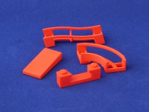 Marble Run Bricks: Starter Set in Red Processed Versatile Plastic