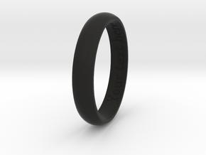 Initials Ring in Black Natural Versatile Plastic