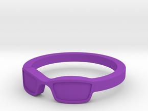 Glasses Ring Size 8.5 in Purple Processed Versatile Plastic