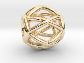 Sinus-Pendant in 14K Yellow Gold