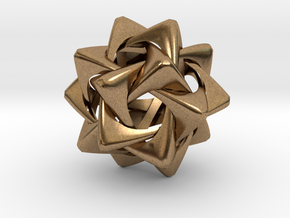 Compound of Five Rounded Tetrahedra in Natural Brass