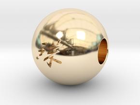 16mm Tama(Pearl) Sphere in 14K Yellow Gold