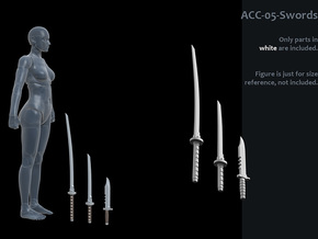 ACC-05-Swords  7inch MOTU in White Processed Versatile Plastic