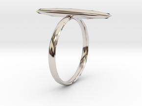 Statement Ring US Size 8 UK Size Q in Platinum