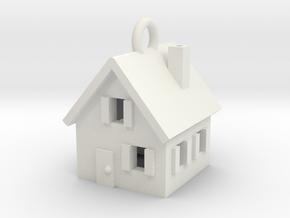 My Home Pendant in White Natural Versatile Plastic