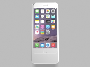 iPhone6 3200mah Charger with USB Power Out in White Natural Versatile Plastic