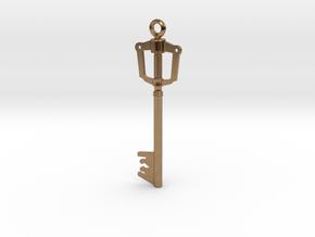 Kingdom Key Pendant in Natural Brass