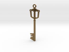 Kingdom Key Pendant in Natural Bronze