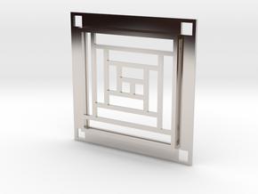 Log Cabin Slide Pendant in Platinum
