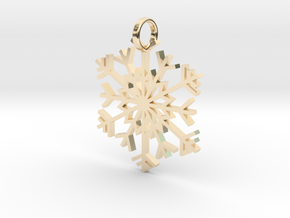 Snowflake Simple Pendent/Charm in 14K Yellow Gold