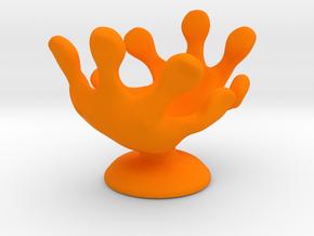 Hands Up Fun Egg Cup in Orange Processed Versatile Plastic