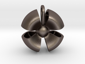 Ribbon small in Polished Bronzed Silver Steel