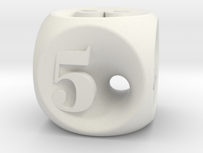 Dice 02 in White Natural Versatile Plastic