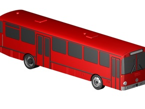 Überlandbus / Coach (1:220) in Smooth Fine Detail Plastic