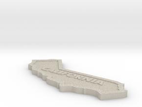 CA Keychain in Natural Sandstone