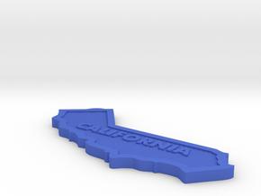 CA Keychain in Blue Processed Versatile Plastic