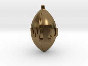 WIU Football Charm in Natural Bronze