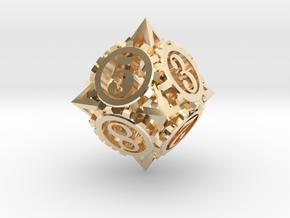 Steampunk Gear d8 in 14K Gold